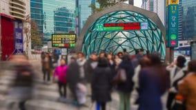 Seoul City Gangnam Subway Station stock video
