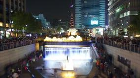 Seoul City Lantern Festival. stock footage