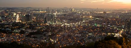 Seoul City Royalty Free Stock Photography