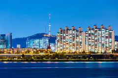 Seoul city at night Royalty Free Stock Photos