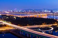 Seoul city night Stock Photography