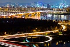 Seoul city night Stock Photo