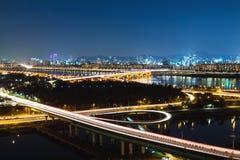 Seoul city night Royalty Free Stock Photos