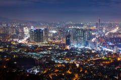 Seoul city at night , South Korea Stock Photo