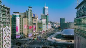 Seoul City Shopping Area Timelapse stock video footage