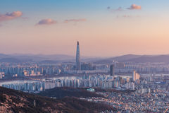Seoul City Skyline, The best view of South Korea Royalty Free Stock Image