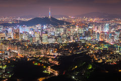 Seoul City Skyline, The best view of South Korea at Night. Seoul City Skyline, The best view of South Korea at Night stock image