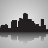 Seoul City skyline black and white silhouette. Vector illustration. vector illustration