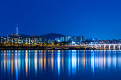 Seoul city skyline Stock Image
