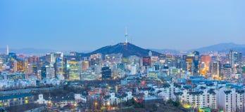 Seoul city skyline in South Korea Stock Images