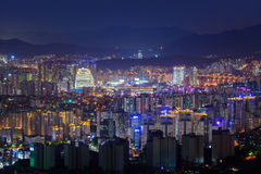 Seoul city skyline, South Korea. Royalty Free Stock Photo