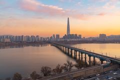 Seoul City Skyline,South Korea stock images