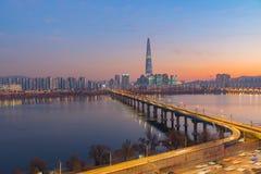 Seoul City Skyline,South Korea royalty free stock photo