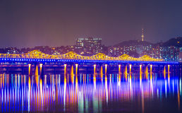 Seoul city in South Korea Royalty Free Stock Photo