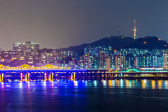 Seoul city in South Korea Royalty Free Stock Image