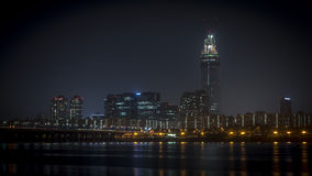 Seoul City. South Korea - Night picture at Han River Stock Photo