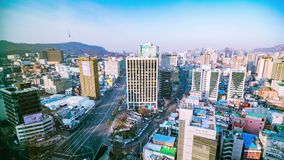 Seoul City Timelapse stock footage