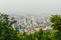 Seoul city view Royalty Free Stock Photography