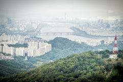 Seoul City. View from N Seoul Tower Royalty Free Stock Images