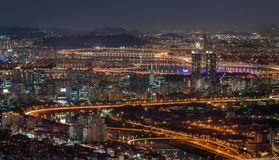 Seoul cityscape Arkivbild