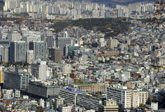 Seoul Cityscape At Daytime Stock Photos