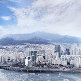 Seoul cityscape, skyline, high rise office buildings in Seoul ci Stock Images