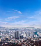 Seoul cityscape, skyline, high rise office buildings and skyscra Stock Image