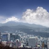 Seoul cityscapes, skyline, high rise office buildings and skyscr Stock Image