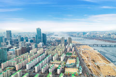 Seoul cityscapes, skyline, high rise office buildings and skyscr Royalty Free Stock Photography