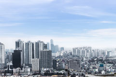 Seoul cityscapes, skyline, high rise office buildings and skyscr Royalty Free Stock Image
