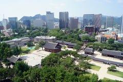 Seoul/Corea del Sud - 05 27 2018: Palazzo Deoksugung Fotografia Stock Libera da Diritti