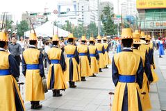 SEOUL, COREIA - 28 DE JULHO DE 2009: mudança da cerimônia dos protetores de Foto de Stock