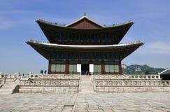 Seoul, Coreia 17 de maio de 2017: Construção do palácio de Gyeongbokgung Imagens de Stock