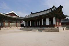 Seoul, Coreia 17 de maio de 2017: Construção do palácio de Gyeongbokgung Fotografia de Stock Royalty Free