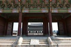 Seoul, Coreia 17 de maio de 2017: Construção do palácio de Gyeongbokgung Imagens de Stock Royalty Free