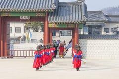 SEOUL, COREIA DO SUL - 22 DE JANEIRO: A cerimônia dos protetores em t Imagem de Stock Royalty Free