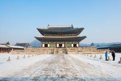 SEOUL, COREIA DO SUL - 19 DE JANEIRO: Turistas que tomam fotos Foto de Stock Royalty Free