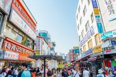 SEOUL, COREIA DO SUL - 16 DE MAIO: Mercado de Namdaemun em Seoul Fotografia de Stock Royalty Free