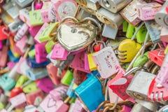 SEOUL, COREIA DO SUL - 29 de outubro: A cerimônia da chave do amor em N Seo Fotografia de Stock