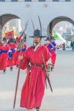 SEOUL, COREIA DO SUL - 30 de outubro de 2015: O março changi do soldado Imagem de Stock Royalty Free