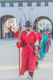 SEOUL, COREIA DO SUL - 30 de outubro de 2015: O março changi do soldado Foto de Stock Royalty Free