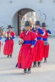 SEOUL, COREIA DO SUL - 30 de outubro de 2015: O março changi do soldado Fotografia de Stock Royalty Free