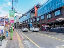 SEOUL, COREIA DO SUL - 22 de outubro de 2017 distrito do anúncio publicitário de Itaewon Fotografia de Stock