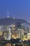 Seoul, Coreia do Sul na noite imagem de stock