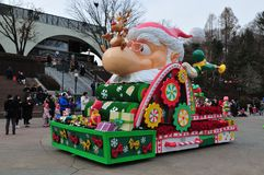 Seoul - 17 Dec 2017 - Everland Theme Park, colourful float parade in Seoul, South Korea. Stock Photography