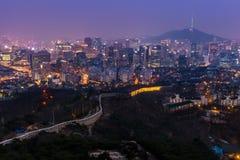 Seoul at Dusk Stock Images