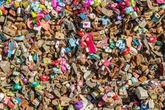 SEOUL - FEBRUARY 1 : Love padlocks at N Seoul Tower. Royalty Free Stock Photography