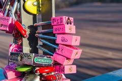 SEOUL - FEBRUARY 1 : Love padlocks at N Seoul Tower. Royalty Free Stock Images