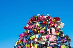 SEOUL - FEBRUARY 1 : Love padlocks at N Seoul Tower. Stock Photos