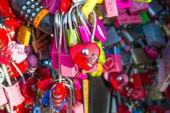 SEOUL - FEBRUARY 1 : Love padlocks at N Seoul Tower. Royalty Free Stock Photo